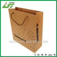 Advertising paper gift bags thin packaging customer logo