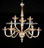 Guestroom glass amber pendant lighting