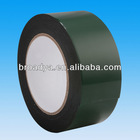 1mm black colored double sided PE foam tape with red film liner