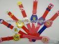 popular de la pu de la correa de plástico disne lindo reloj de dibujos animados para niños