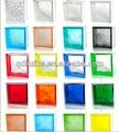 Melhor preço 190*190*80mm, colorido e tijolo de vidro transparente