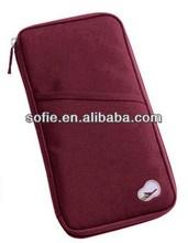 600D polyester travel passport bag