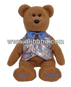 personalized custom plush stuffed Beanie Babies Dad 2006 the bear