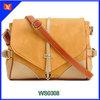 Newest arrival European style adjustable wide strap shoulder bag yellow girl school sling bag genuine leather land bags