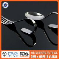Hight Grade Stainless Steel Fondue Dinner Bend Spoons