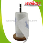 new design stainless steel tissue holder with wood bottom