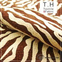 Tiger Pattern leaf fabric design European Style