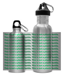 Green Bottle - This is not a plastic bottle.