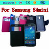 2014 new flip leather mobile phone cover case for samsung galaxy s4 mini tpu case