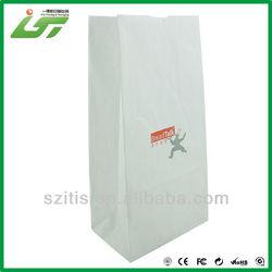 simple luxury block bottom brown kraft paper bag wholesale