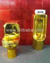 gold toilet stool
