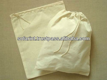 SMALL MUSLIN DOUBLE DRAW STRING BAG & COTTON TEA BAG