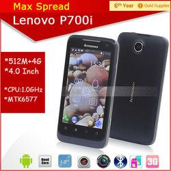 MTK smart phone Lenovo P700i 1.0GHz MTK6577 dual core dual sim 4.0inch 0.3MP+5MP Camera 4GB ROM