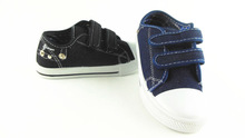 KIDS CHILDRENS CANVAS LACE UP CASUAL PUMPS CLASSIC VELCRO TRAINERS ALL SIZE