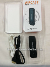 WiFi Aircast, EZCast, Miracast,Cast Photos,Video,Music,Game,Office Doc from Phone,Pad, Notebook to TV,Projector,