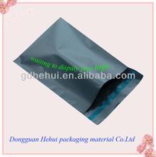 grey polyethene mailing plastic bag
