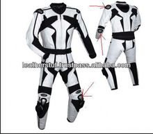 Leather Race Quality Leather Suit White