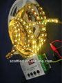 64led/m construído em ic ws2811 5v mágica cor sonho roche tiras de teste