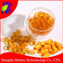 Health supplement Seabuckthorn oil softgel for anti-aging