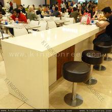 Long Sizes Bartop White Bar Table / Custom Made Sizes Bar Top