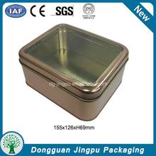 Clear window rectangular aluminum food cans