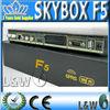 UK plug skybox f5 hindi iptv Original satellite receiver decoder PVR HD Dual CPU, 396 MHz MIPS Processor accept paypal