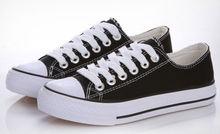 Classic low cut canvas shoes for men black conversion shoes