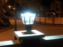 High brightness Solar Gate Lamp