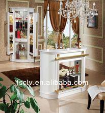 Rustic white bar furniture corner home bar cabinet