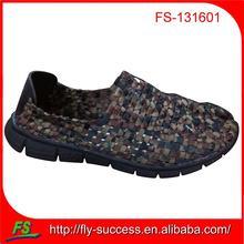 Handmade woven elastic upper shoes unisex woven shoes