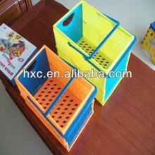 Folding Cute orange plastic basket