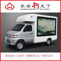 LED screen advertising mini van