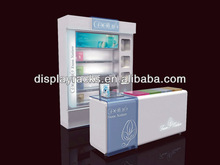 hot sale high quality custom made spray paint department store display, cosmetic display store, cosmetic floor display