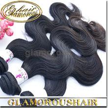 Virgin Brazilian Hair Extensions in Guangzhou Natural Black Hair Extensions Brazilian Non Remy Hair Body Wave