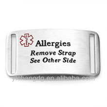 Square ID Alert Tag for Persons with Allergies