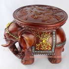 Resin Figurine Resin Elephant Stool Resin Craft Sculpture Resin Statues Home Decoration (XH227 MUSE)