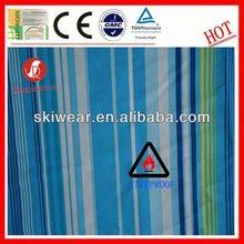 2014 new design fire resistant black white striped cotton fabric