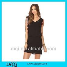 Europe fashion design guanzhou wholesale formal chiffon dress