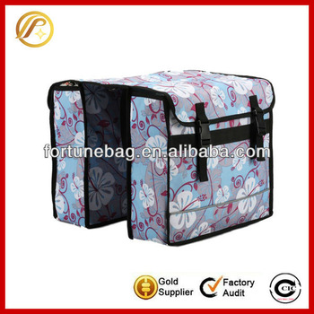 Custom printing high quality rear seat bike bag
