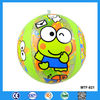 Inflatable small ball plastic toys, lovely animal printing inflatable plastic ball toys for kdis