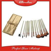 16 pcs professional gold smashbox makeup brushes