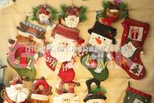 Santa Snowman Reindeer designer christmas stocking