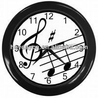 Music Notes Treble Clef Art Bar Studio Wall Clock(HD-8021H)