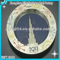 New fashion craft/tray plate dish craft/designer decorative metal craft
