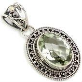 Pendant quarter birmingham, Pendant fine, Silver gem pendant
