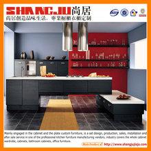 Blue Open kitchen style {tall, base, island, wall, Cabinets}