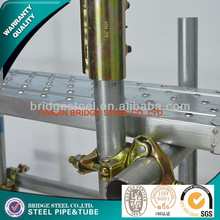 zinc-coated scaffolding system for construction