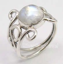 925 Pure Silver MOONSTONE Designer Ring Each Size UK US