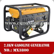 60HZ Key Start 207cc 3kw 6.5HP gasoline generator air cooled engine