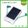4000mAh inbuilt cable design mobile phone solar battery charger